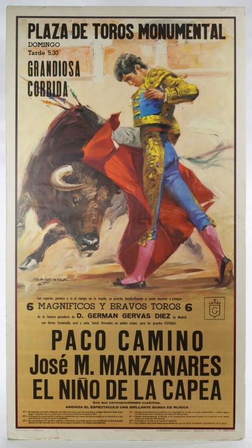 Spanish 'Plaza de Toros Monumental' Poster