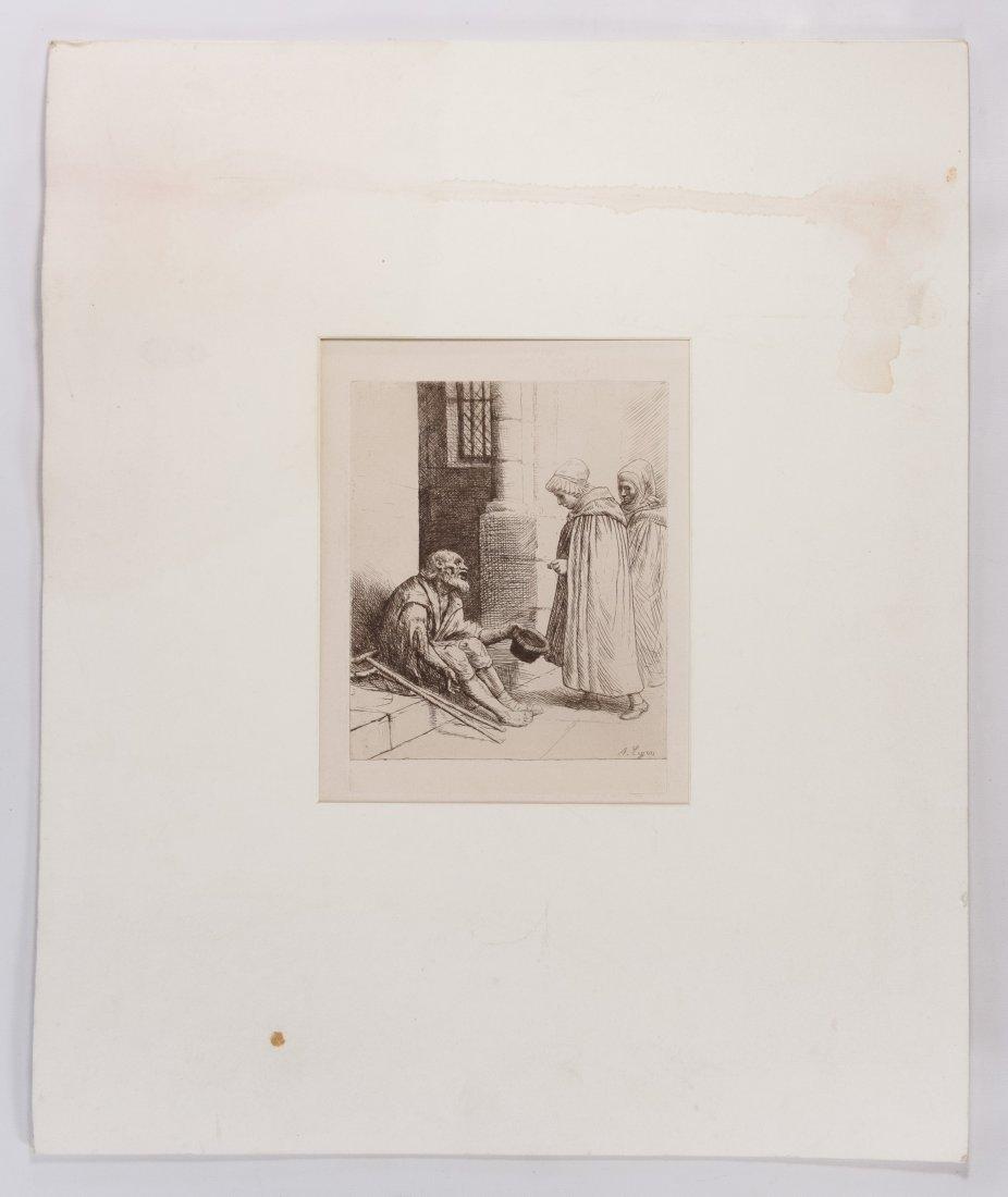 Alphonse Legros (European, 1837-1911) 'Le Charitie'