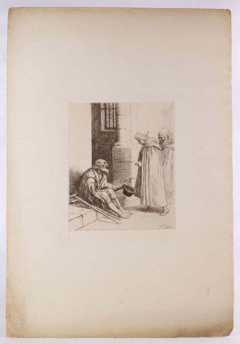 Alphonse Legros (European, 1837-1911) 'Le Charitie' - 2