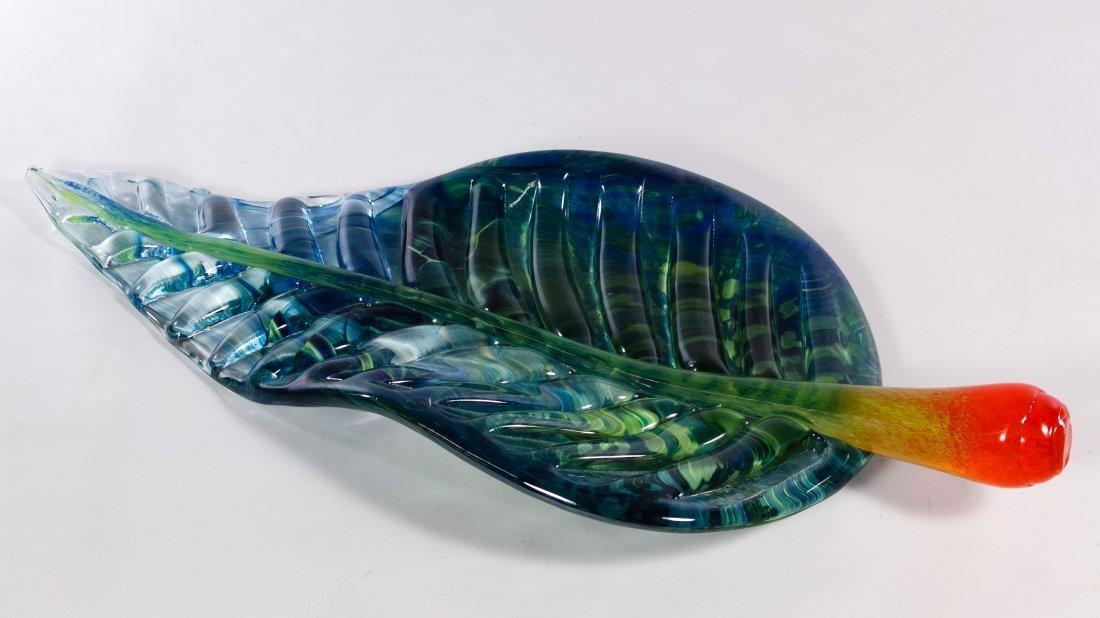 Kosta Boda Art Glass Leaf by Ludvig Lofgren