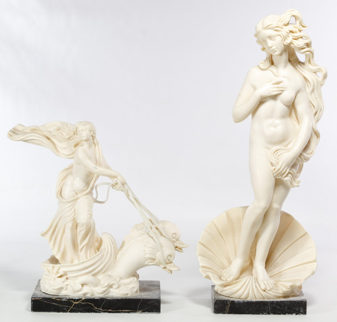 Classical Style Resin Figurines by A. Santini