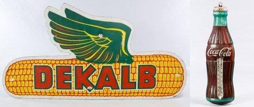 Pressboard 'Dekalb Seed Corn' Advertising Sign