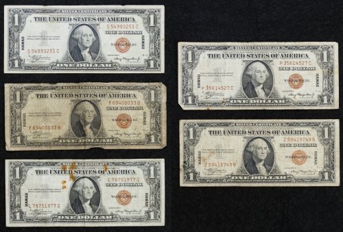 1935-A $1 'Hawaii' Silver Certificates