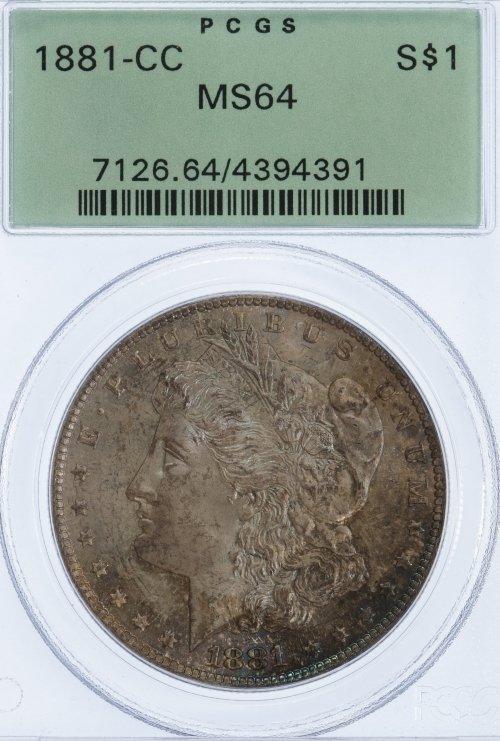 1881-CC $1 MS-64 PCGS