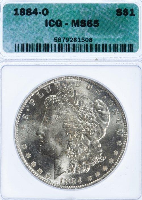 1884-O $1 MS-65 ICG