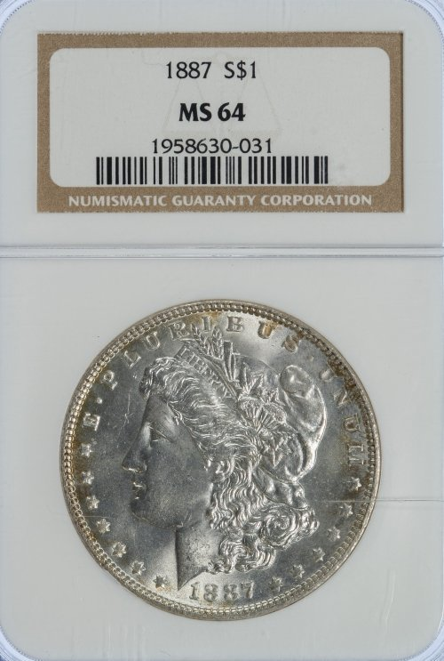 1887 $1 MS-64 NGC