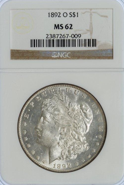 1892-O $1 MS-62 NGC