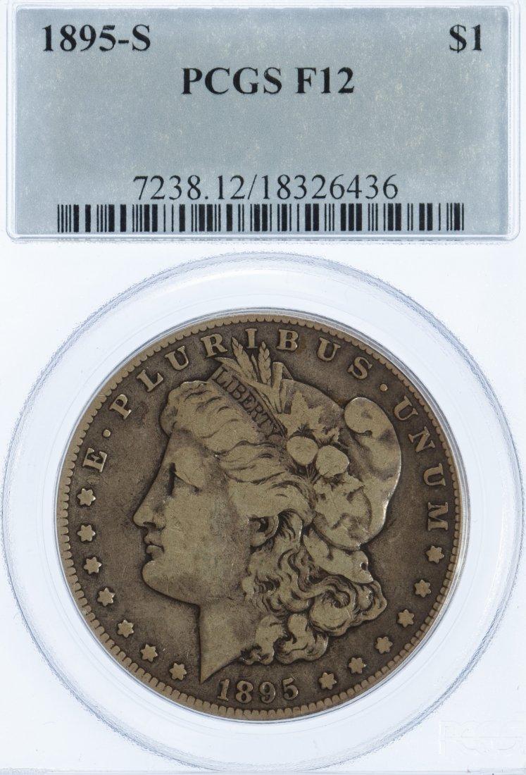 1895-S $1 F-12 PCGS
