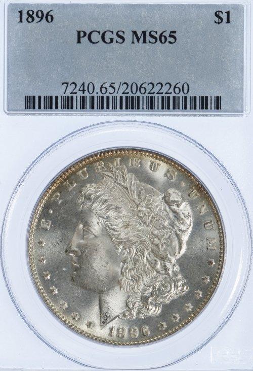 1896 $1 MS-65 PCGS