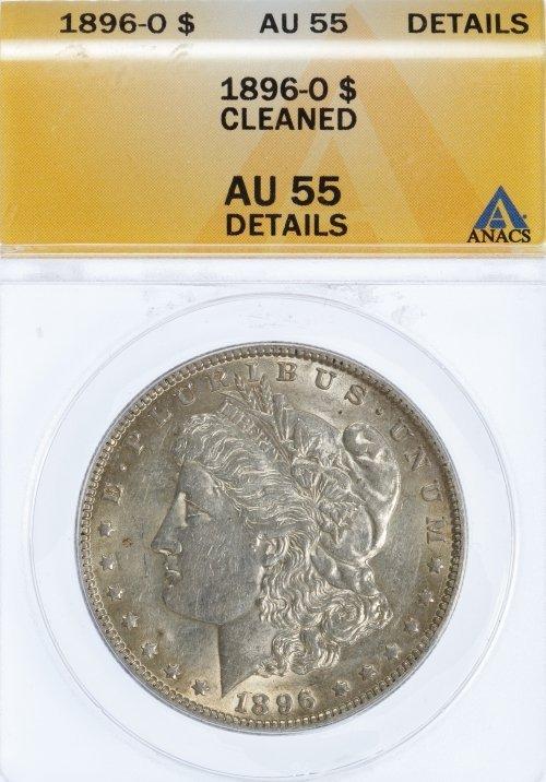 1896-O $1 AU-55 Details ANACS