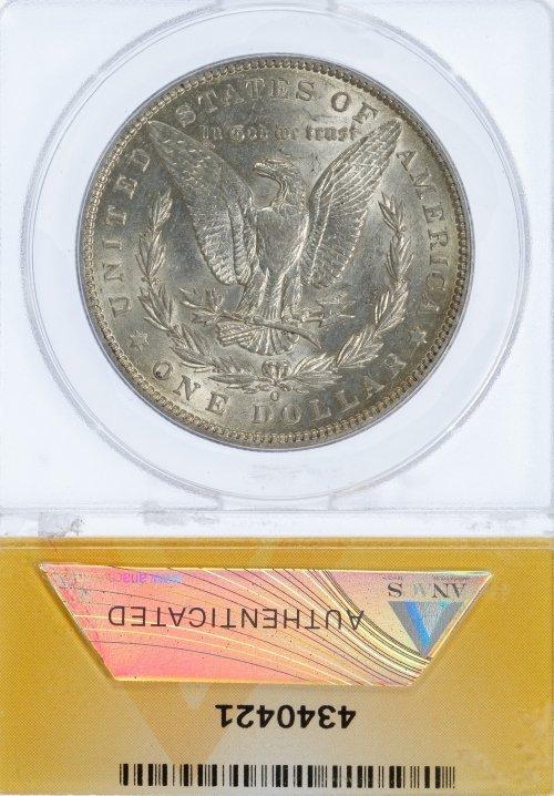 1896-O $1 AU-55 Details ANACS - 2