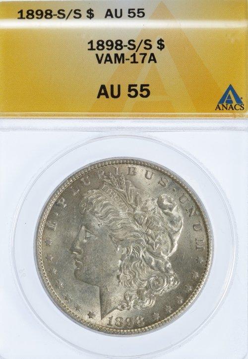 1898-S/S $1 AU-55 ANACS