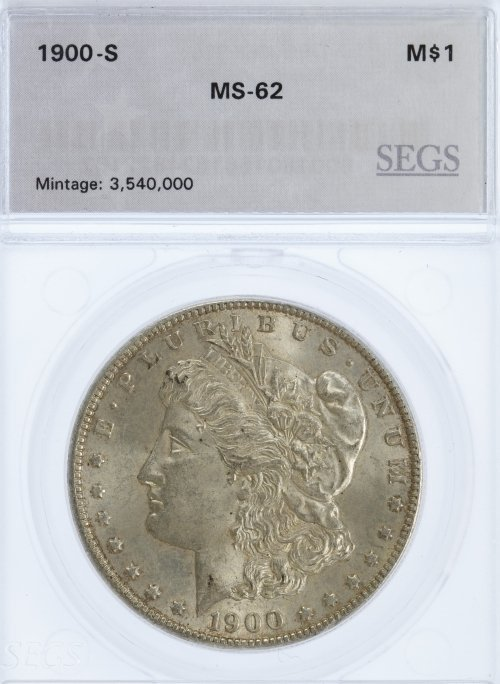 1900-S $1 MS-62 SEGS