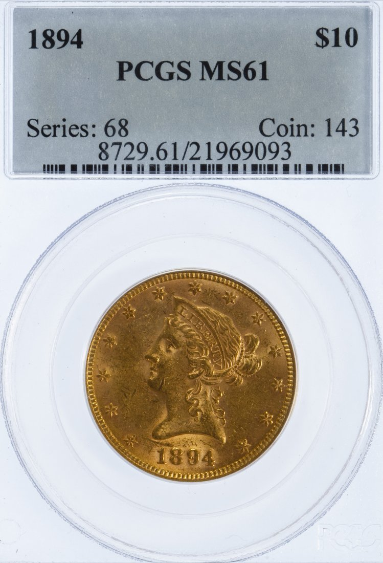 1894 $10 Gold MS-61 PCGS