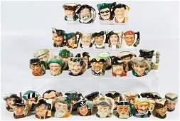 Royal Doulton Miniature Character Jug Assortment