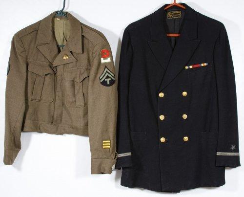 World War II US Navy and Army Jackets
