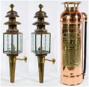 Brass Coach Lanterns by Lime House Lamp Co.