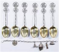 Wang Hing  Co Sterling Silver Teaspoons
