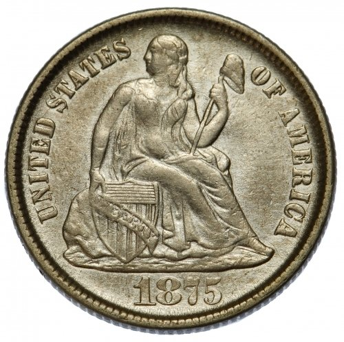 1875-CC 10c VF