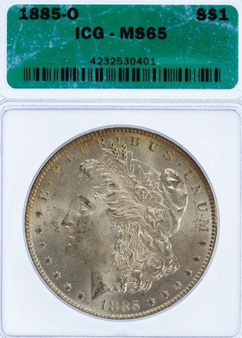 1885-O $1 MS-65 ICG
