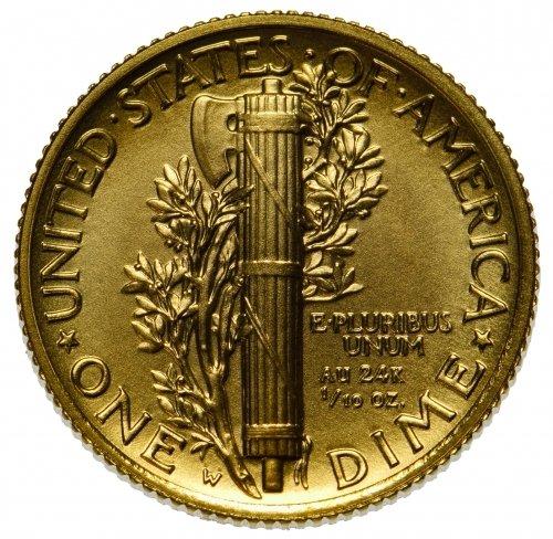 2016 Mercury Dime Centennial Gold Coin - 3
