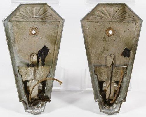 Art Deco Metal Wall Sconces - 3