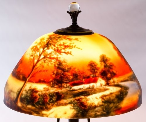 Reverse Painted Glass Lamp Shade by Moe Bridges Co. - 3