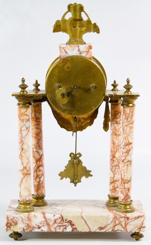 French Marble Clock and Garniture Set - 3