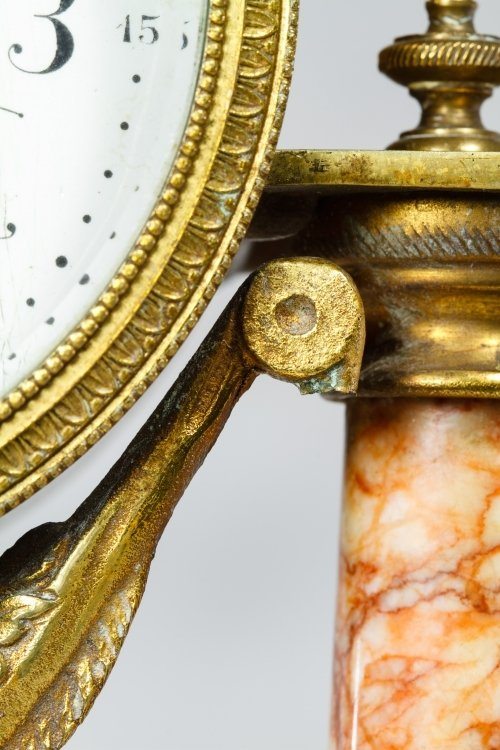 French Marble Clock and Garniture Set - 7