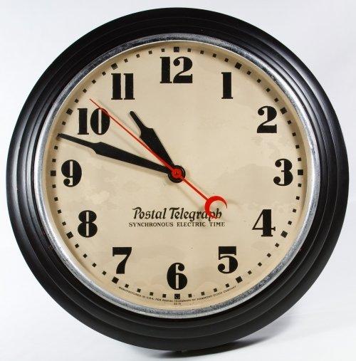 Postal Telegraph Electric Wall Clock by Hammond Clock