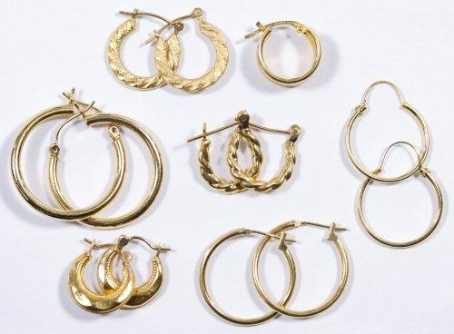 14k Gold Earrings Assortment