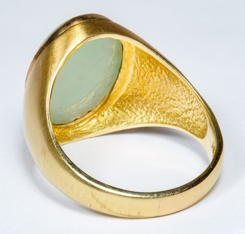14k Gold and Jadeite Jade Ring - 2