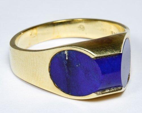 14k Gold and Lapis Lazuli Ring