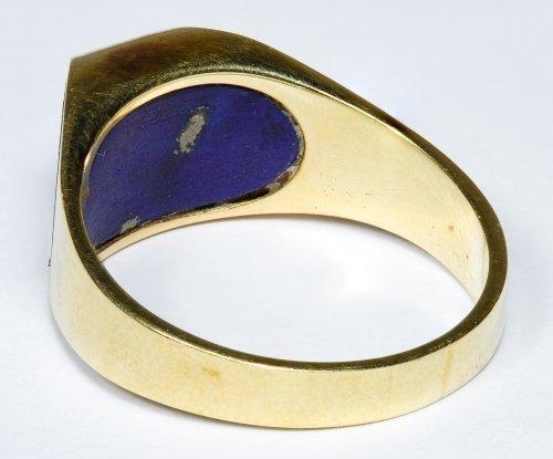 14k Gold and Lapis Lazuli Ring - 2