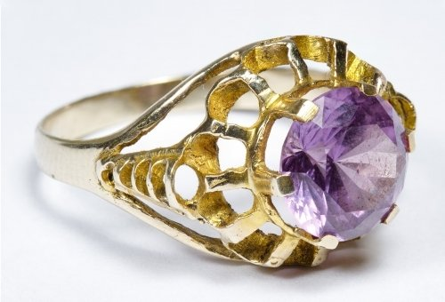 14k Gold and Pink Sapphire Ring