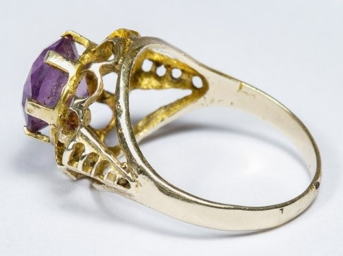 14k Gold and Pink Sapphire Ring - 2