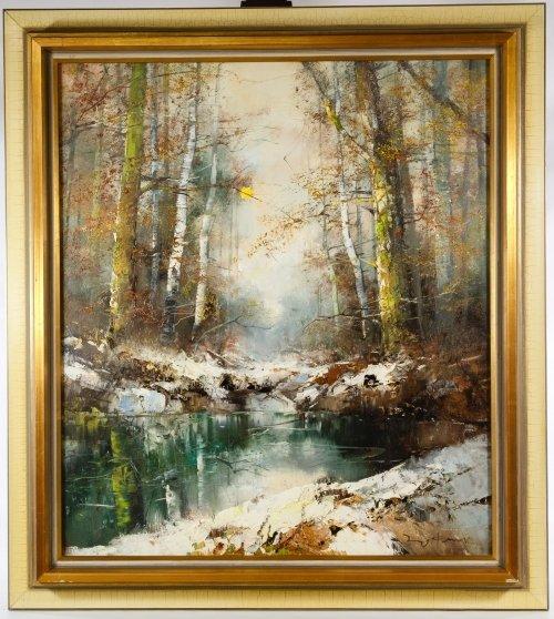 Ingfried Paul Henze Morro (American, 1925-2013) Oil on