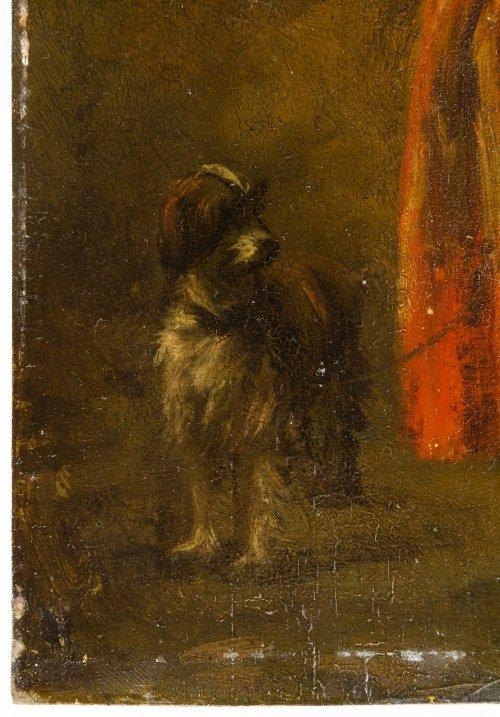 Dutch School (19th Century) 'Female with Dog' Oil on - 7