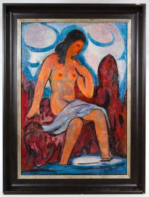 Erich Waske (German, 1889-1978) Oil on Canvas