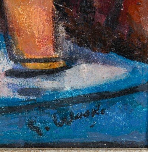 Erich Waske (German, 1889-1978) Oil on Canvas - 5