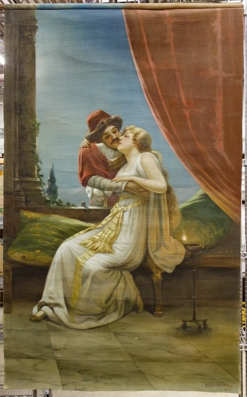 Joseph A. Maturo (Italian, 1876-1938) Painted Tapesty
