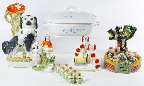 Staffordshire Style Ceramic Assortment
