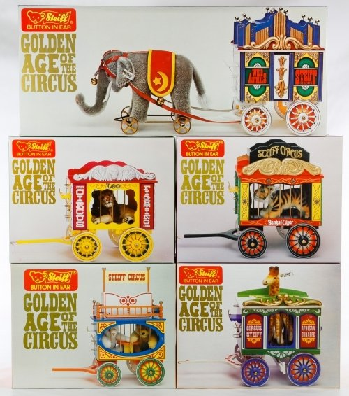 Steiff Golden Age of Circus Wagon and Animal Set