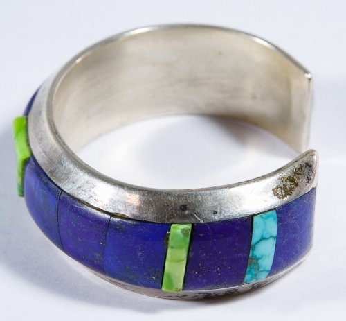 Native American Sterling Silver, Lapis Lazuli and - 2