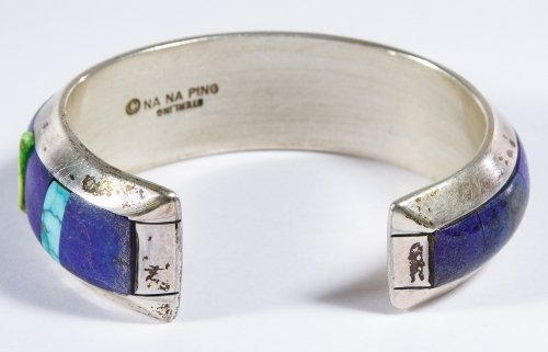 Native American Sterling Silver, Lapis Lazuli and - 3