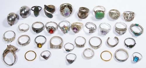 Sterling Silver Ring Assortment