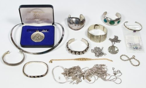 Sterling Silver Necklace and Bracelet Assortment