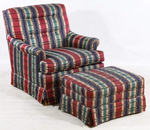Club Chair and Ottoman by Southern Upholstery
