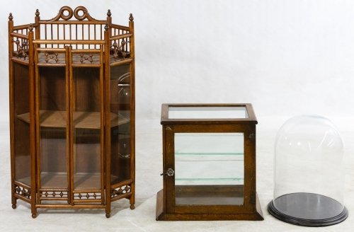 Display Cabinet and Dome Assortment