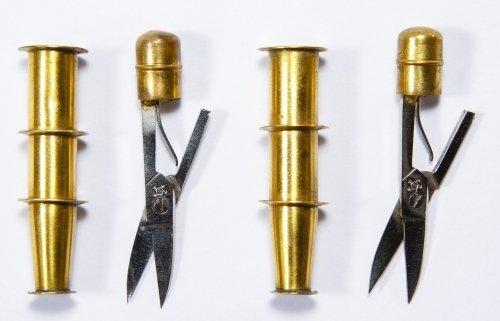 German Sterling Silver (.935) Enamel Sewing Kits - 2